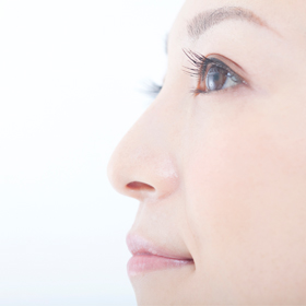 鼻筋が通っている女性の横顔